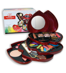 BR Deluxe Makeup Palette Dimensions: 14Lx14Wx7H (1868RED)