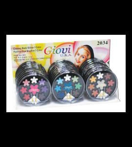 1 Creamy Body Glitter 7 Eyeshadows (2034A) Giovi (one display)