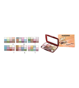18 Color Shimmer Eyeshadow (316) BR (one display)