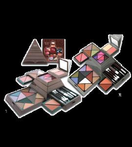 18 Eyeshadow/ 4 Blush/ 6 Lip Gloss Dimensions: 9Lx8.2Wx4.5H (552)