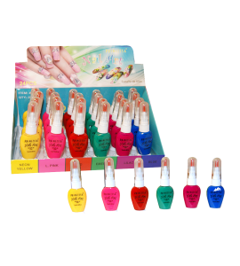 Nail Art Nail Polish  (560D) Princessa 6 colors 24 piece display