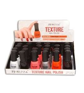 Texture Nail Polish (562B) Princessa 6 colors 24 piece display