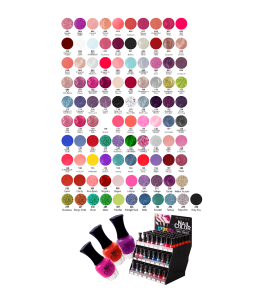 Princessa Nail Color (7018) Princessa 101 colors display
