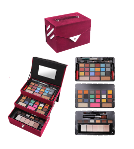 pink Velvet Trunk Case (one piece) AL-70 (BR)