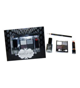 BR Makeup Kit 3 Eyeshadow/ 1 Pencil/ 1 Lipstick/ 1 Nail Polish Dimensions: 5.5Lx7Wx1.25H (BR021S)