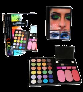 Deluxe Makeup Palette 31 Colors Dimensions: 4.75Lx7Wx1H (BR828-2)