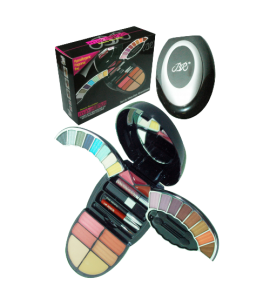 16 Eyeshadow/ 3 Lip Gloss/ 4 Blush/ 2 Face Powder/ 1 Lip Gloss Dimensions: 9Lx12.5Wx6H (JC186)