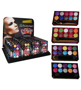 10 Color Eyeshadow Palettes (Shimmer or Matte) (JC223G) Princessa (one display)