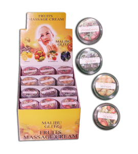 Massage Cream (JL7052) Malibu Glitz 4 scents 12 piece display