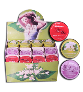Massage Cream (MASSAGECREAM) Malibu Glitz 3 scents 12 display box
