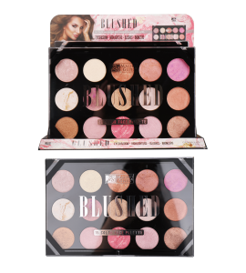 Blushed 15 Color Face Palette (one piece) MG-651 (MALIBU GLITZ)