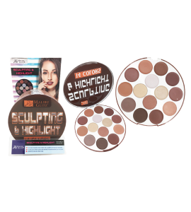 MG 14 Colors Sculpting & Highlight Palette (MG33) Malibu Glitz (one piece)