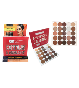 MG 25 Colors Contour & Highlight Palette (MG34) Malibu Glitz (one piece)