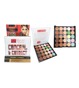 MG 25 Colors Conceal & Correct Palette (MG35) Malibu Glitz (one piece)