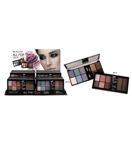 All For Eyes 6 Eyeshadow + 4 Eye Brow + 2 Applicator (PR-62) Princessa (one display)