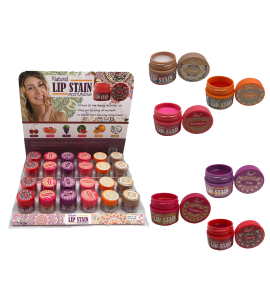 Natural Lip Stain (one piece) SL-125 (6 scents, 24 piece display) (STARRY)