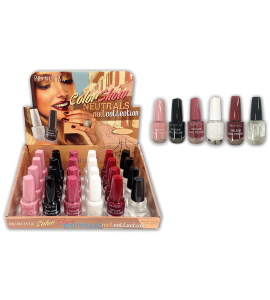 Neutrals Nail Collection (SN593) Princessa 6 colors 24 piece display
