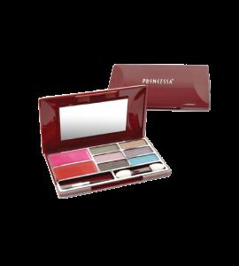 6 Eyeshadow 1 Blush (W002A) Princessa (one display)